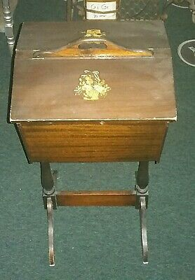 Antique Wooden Sewing Stand Box