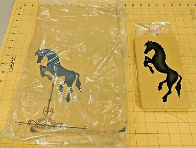 Vtg Bridge Card Table Cover & matching Score Pad Book Holder Horse Weather vane