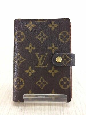 Louis Vuitton Notebook Cover Case Day Planners Monogram MM R20004 USED
