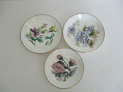 Royal Worcester Fine Bone China 3 Small Coaster Ortrinket Dishes