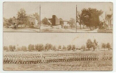 WWI 1918 Real Photo St Louis MO Multiview Jefferson Barracks Military Post