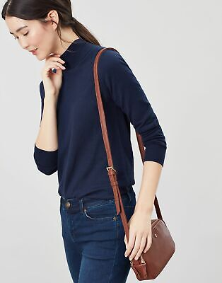 Joules Womens Farley Faux Leather Camera Cross Body Bag - TAN in One Size