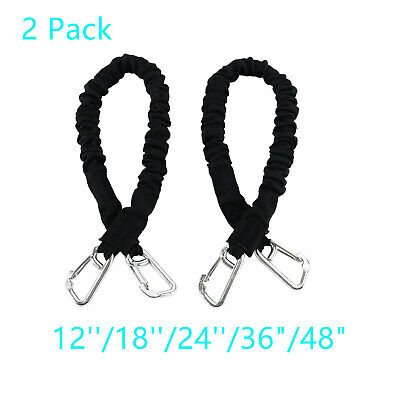 Extreme Temperatures Weather Resistant Abrasion Highly Flexible /& Durable Umbrella Tie 1 Pack Moisture SGT KNOTS Patio Umbrella Bungee Cord Bungee Cord with Ball Black