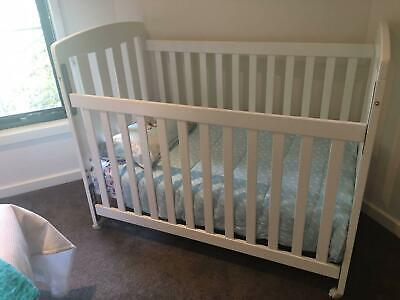 Childcare Cot and bedding - white includes mattress and sheets