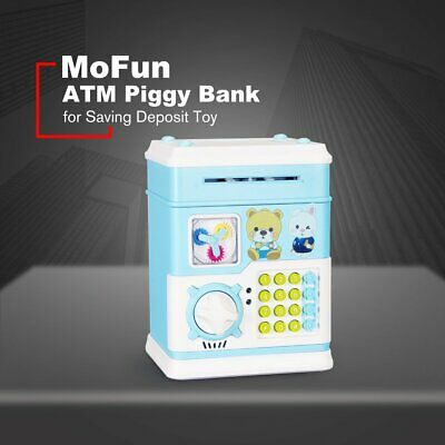 MoFun Auto Electronic Piggy Bank ATM Password Money Saving Deposit Box Story |