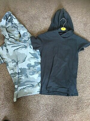 Next Hooded Tops Camo And  Dark Grey Age 6 Or Age 5-6 Boys