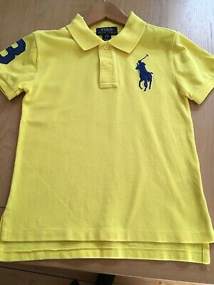 Boys Yellow Ralph lauren Polo Shirt