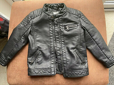 River Island Mini - Boys Leather Effect Jacket - Age 2 to 3 Years