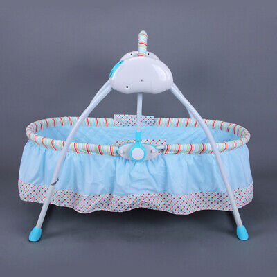 Electric Baby Crib Cradle Auto Rocking Chair Childcare Bassinet Sleep Bed Rocker