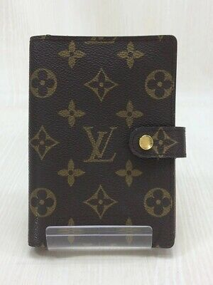 LOUIS VUITTON Agenda MM_Monogram Canvas / Leather / BRW R20004 USED