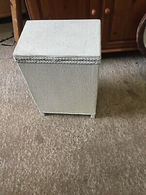 Vintage White Traditional Loom Laundry Box Lloyd Paint Project 17/2/A