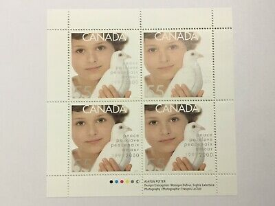 stamps CANADA millennium block DOVE OF PEACE MNH 1999/2000
