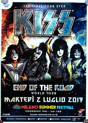 KISS concert poster End of the road World tour 2019 / Milano, Italia / 45x32cm