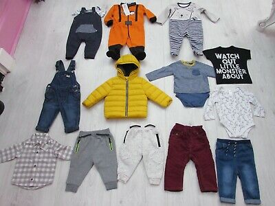 Baby Boys Clothes Bundle Age 6-9 Months 14 Items George Zara F&F TU Primark etc