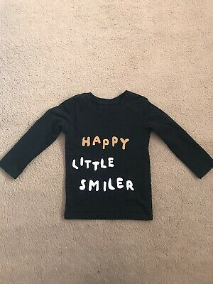 girls 12-18 months Black Longsleeved Top From George In Good Condition