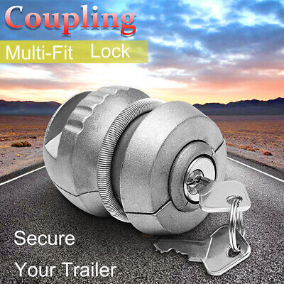 Insertable Hitch Lock Trailer Coupling Hitch Locks Tow Ball Caravan For-JT