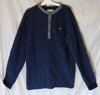 Boys Jasper Conran Slate Blue Textured Fleck Thin Knit Jumper Age 11-12 Years