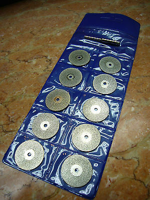 "10 pcs 50mm 2"" inch THK Diamond coated rotary cutting cut off blade wheels disc"