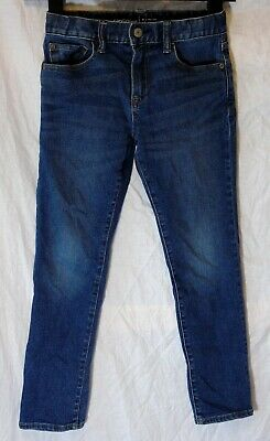 Boys Gap Dark Blue Whiskered Denim Regular Skinny Fit Stretch Jeans Age 8 Years