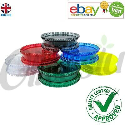 Magnetic 60mm 2 Part No1 Grinder Plastic Dry Herb Shark Teeth Tobacco Storage UK