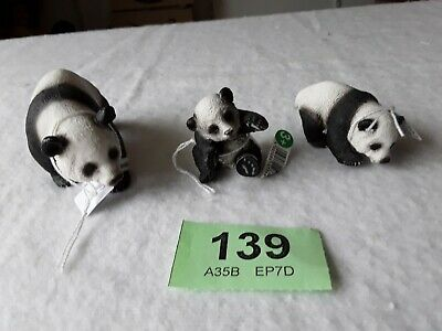 Schleich Wild Animals Pandas  X 3 Lot 139