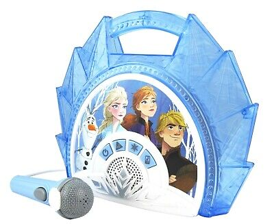 Disney Frozen 2 Sing Along Light Up Boombox Karaoke with real working Microphone