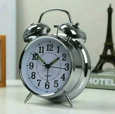Retro Loud Double Bell Mechanical Key Wound Alarm Clock BEST GIFT FOR HIM HER