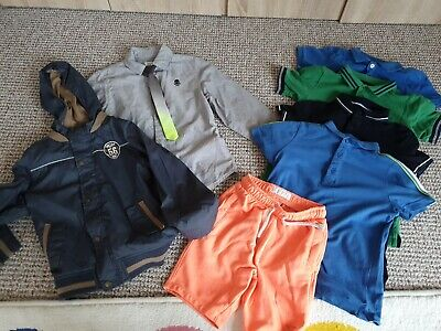 Boys bundle clothes age 6 years Next, H&M, TU, F&F polos, shorts, jacket,  shirt