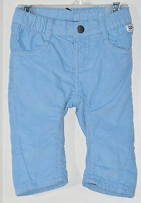 MEXX Boys Size 3-6 Months Blue Pull-On Fully Lined Corduroy Pants
