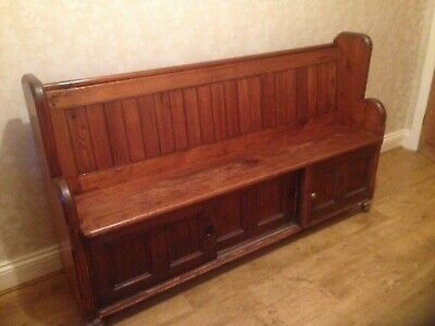 Antique reclaimed church pew