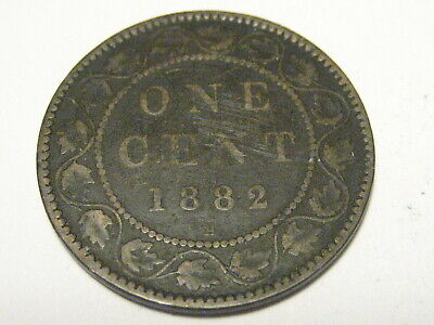 1882 H Canadian Large Cent