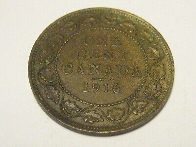 1916 Canadian Large Cent XF