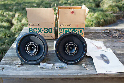 Coral 8CX-30 full range coaxial speaker drivers MINT in boxes