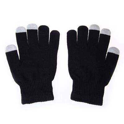 Women Men Touch Screen Soft Cotton Winter Gloves Warmer Smartphone Black H1