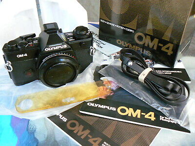Olympus Om-4 Camera Body 2Nd Version *Pro 35Mm Slr Camera *Tested *Boxed & Mint-
