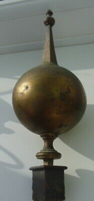 Antique  Large Longcase / Grandfather  Clock  Brass  Ball Finial