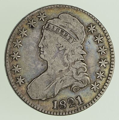 1821 Capped Bust Half Dollar - Circulated *0441