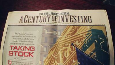 Newspaper 1996 Wall Street Journal Section R 100 years of investing