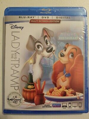Lady and the Tramp (Blu-ray/DVD, 2018, 2-Disc Set, Signature Collection Includes
