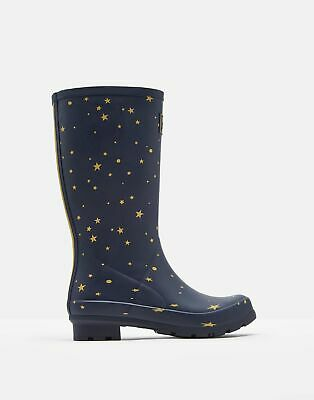 Joules Womens Roll Up Wellies - STAR GAZING Size Adult 4