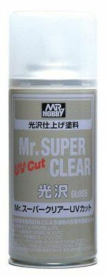 MR HOBBY MR SUPER CLEAR 522 Gloss UV Cut Spray 170ml Model Kit Bandai FREE SHIP