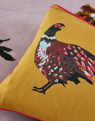 Joules Home Heritage Pheasant Cushion - GOLD PHEASANT in One Size