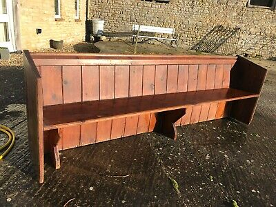 Vintage Church Pew / Bench, Pine, 2.57m long