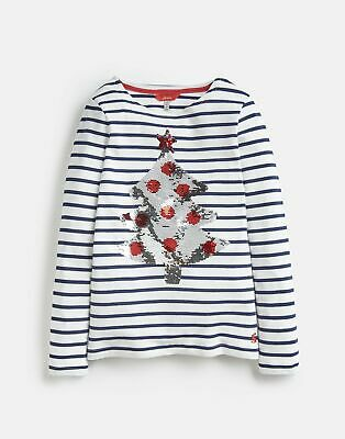Joules Girls Harbour Luxe   Embellished Jersey Top Shirt  -  Size 5yr