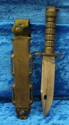 LAN-CAY M9 Bayonet Tactical Knife And Scabbard USA Made Desert Storm