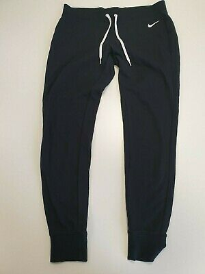 H156 Womens Nike Black White Jogging Bottoms Uk Xl 16 Eu 44
