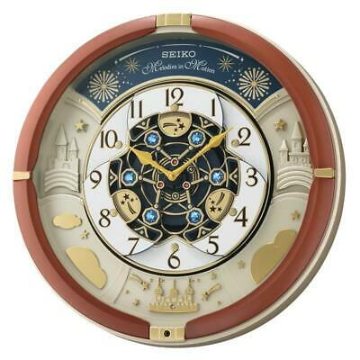 Seiko QXM378B Melodies in Motion Wall Clock with Volume control - Metallic Brown