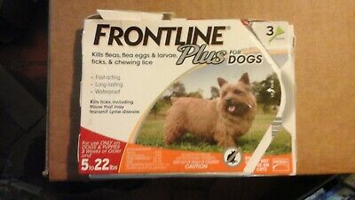 3 pack- FRONTLINE Plus for Small Dogs 5-22 lb Flea and Tick Treatment READ