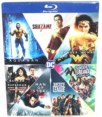 DC 7 Film Collection Warner Bros Blu-ray Set New Justice League Wonder Woman