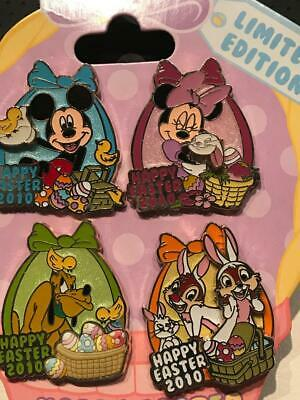 LE Easter 4-Pin Set   Mickey-Minnie-Pluto- Chip-Dale